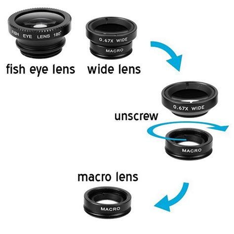 Fish Eye 3 In 1 Colour Fish Eye Warna Limited Getihu Fish Eye 3 In 1 Wide Angle Macro Fisheye With Clip