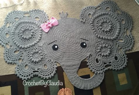 Crochet Elephant Rug Buy by Elephant Rug Crochet Rug Nursery Decor