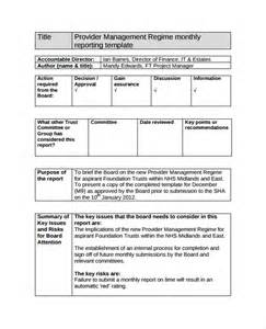 Management Reports Template monthly management report template 10 documents in pdf