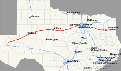 interstate map of texas file interstate 20 map texas png