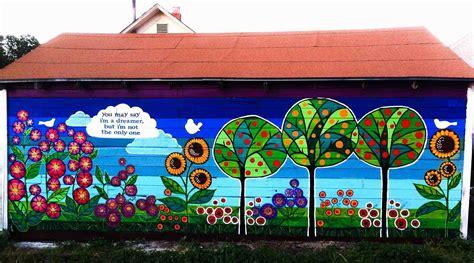 Garden Wall Murals Ideas Murals For Fences Rhforestpoppycom Garden Outdoor Flower Murals Ideas Outdoor Patio Wall Decor