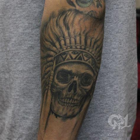 black and grey tattoo artists in dallas cap1 tattoos tattoos skull native american skull tattoo