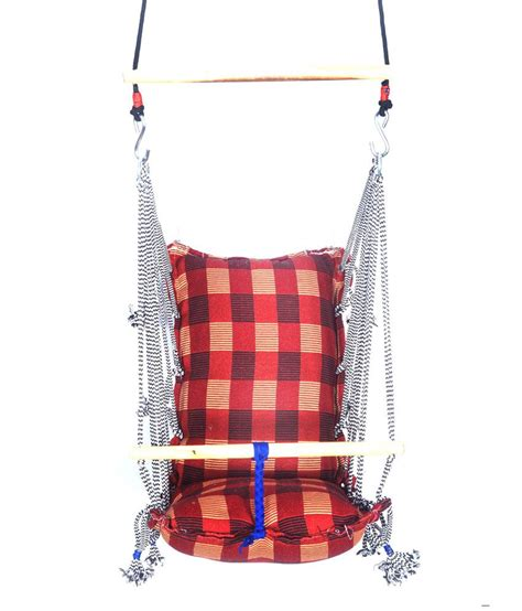 fabric swing kkriya home decor red fabric baby swing buy kkriya home