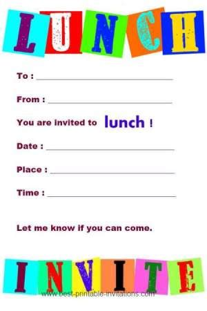 lunch invites printable invitations to lunch