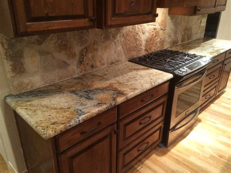 granite kitchen countertops sienna beige granite kitchen countertops rock backsplash rustic home remodel dark
