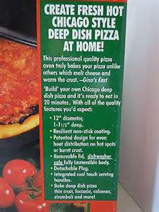 breadman presents gino s east of chicago pz200 deep dish pizza maker chicago pizza and dishes
