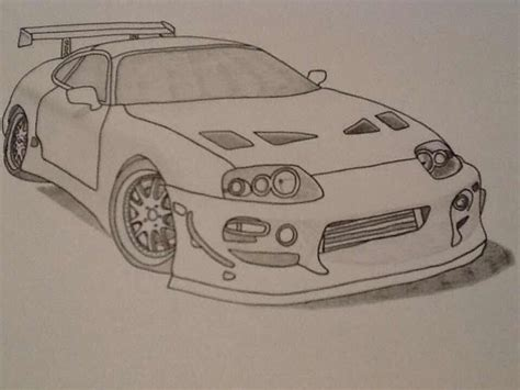 Toyota Supra Drawing Pixshark Com Images Galleries