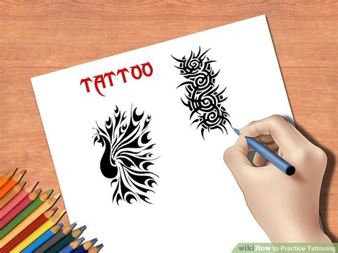 how to practice tattooing 3 ways to practice tattooing wikihow