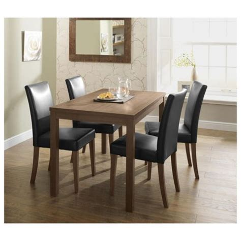 Dining Room Furniture Tesco Buy Banbury 4 Seat Dining Table Set Walnut Effect From