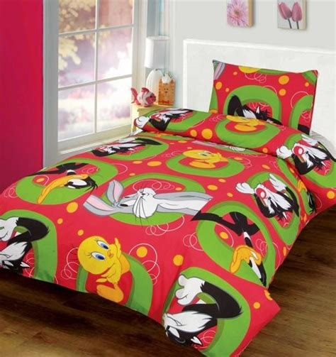 daffy duck tweety bird single bed quilt doona cover set ebay