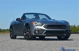 Fiat 124 Abarth For Sale 2017 Fiat 124 Spider Abarth Review Test Drive