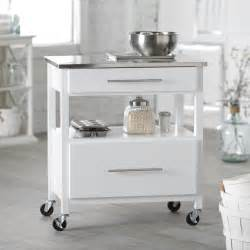 white kitchen island with stainless steel top belham living white mini concord kitchen island with