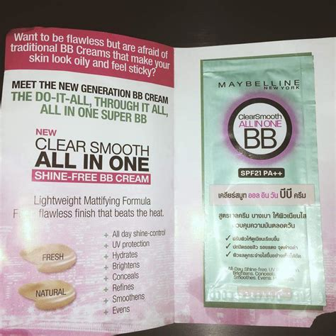 Maybelline Clear Smooth All In One maybelline clear smooth all in one shine free bb chubbychicsdiary