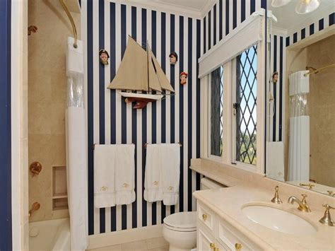 Bathroom Black White Striped Nautical Bathroom Nautical Bathroom Designs