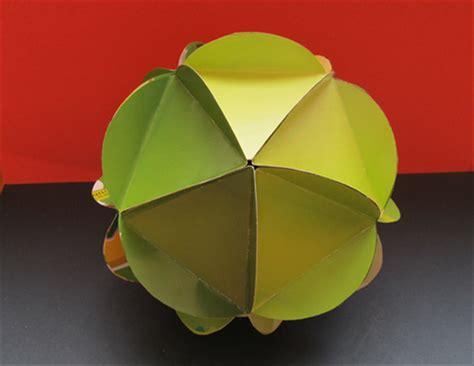 Origami Circle Box - how to make an icosahedron from circles