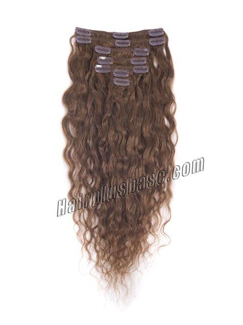 light brown wavy hair extensions 16 inch 6 light brown clip in hair extensions wavy