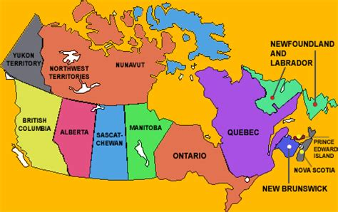 map of canada for students canada map in