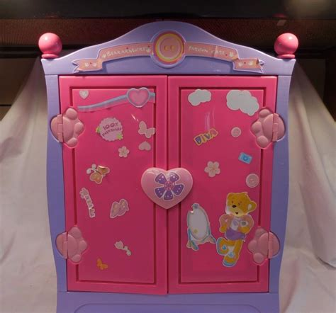 build a bear closet armoire build a bear beararmoire fashion case closet wardrobe case