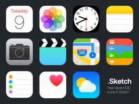 apple ios 7 icon grid sketch freebie download free