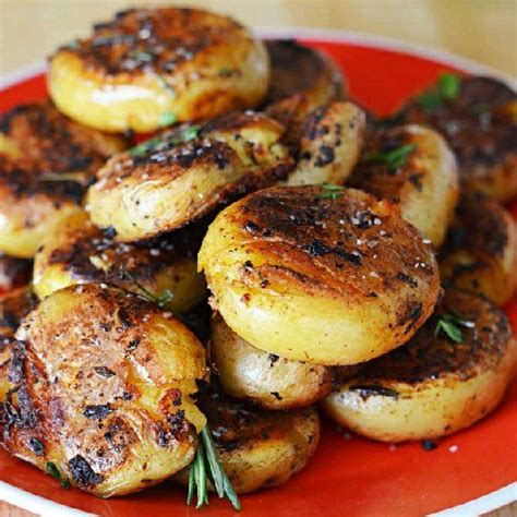 crispy outside creamy inside garlic herb potatoes recipe potato sides potato side dishes