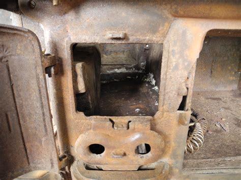 rocket stove insert for antique wood cook stove rocket