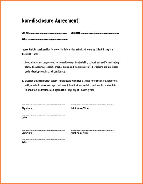 Non Disclosure Agreement Templates 7 confidentiality and non disclosure agreement purchase
