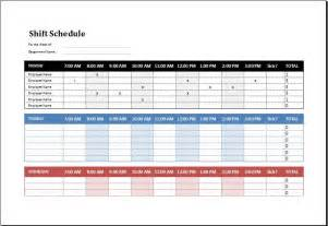 Employee Schedule Template by Employee Shift Schedule Template Ms Excel Excel Templates