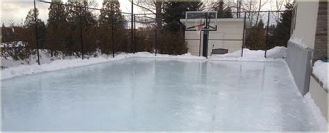 easy backyard ice rink how to turn your backyard court into an ice rink