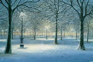 Winter Wall Murals Winter Snow Scene In The Park Wall Mural Contemporary
