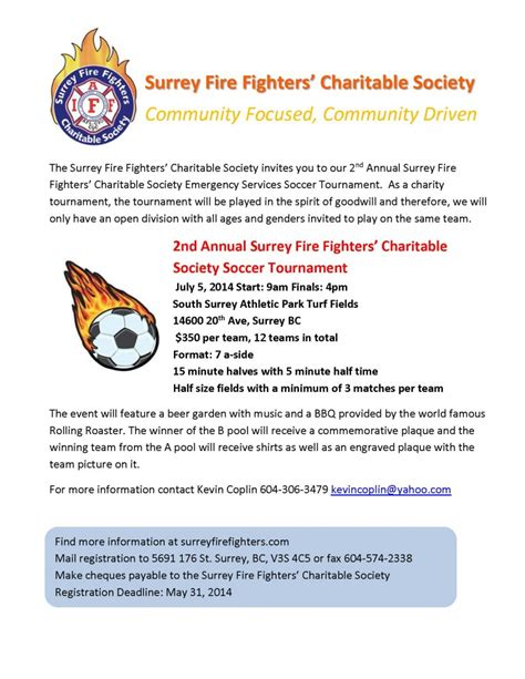 Sponsorship Letter For Soccer Tournament Surrey Fighters Association Website 187 Charity Soccer Tournament July 5 2014