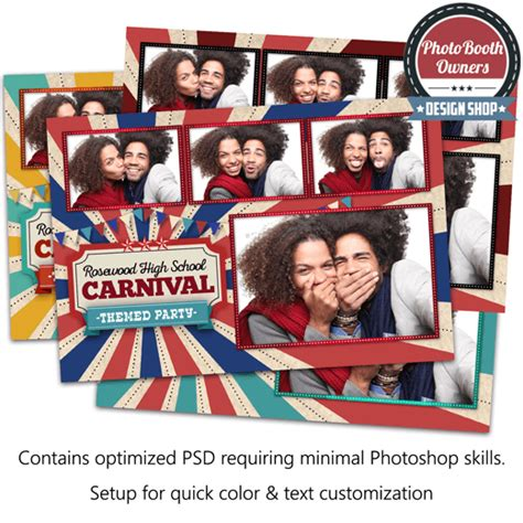vintage photo booth layout vintage carnival postcard photo booth template