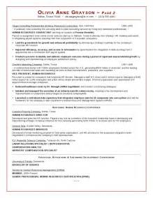 Hris Specialist Sle Resume by Business Analyst Hr Resume