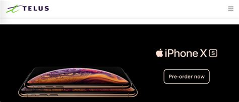 telus iphone xs iphone xs max pricing starts at 430 as pre orders launch iphone in canada