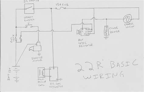 1989 toyota 22re throttle diagram wiring schematic