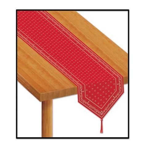 western bandana print table runner
