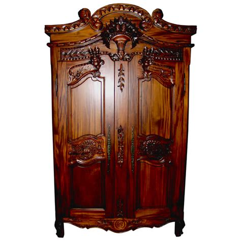 french armoire furniture rococo mid mahogany french armoire
