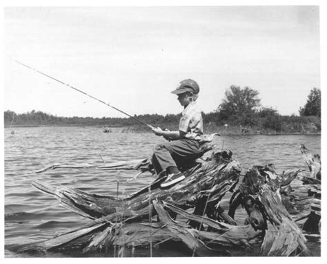 free picture boy fishing black and white image