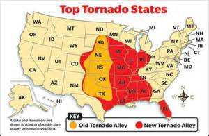 tornado alley map severe weather awareness week safety