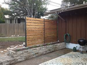 Privacy Wall For Patio by Privacy Fence Industrial Patio Austin By Sierra Prana