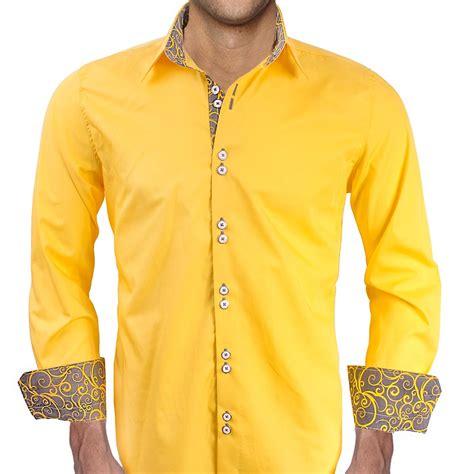 light yellow mens dress shirt bright yellow with grey contrast dress shirts