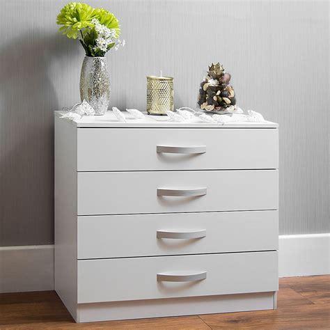 hulio high gloss chest  drawers white  drawer metal