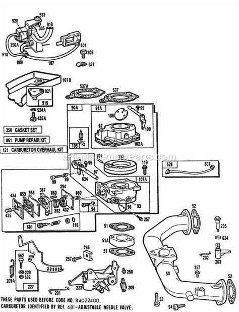 Briggs And Stratton 402707 0145 01 Parts List And Diagram