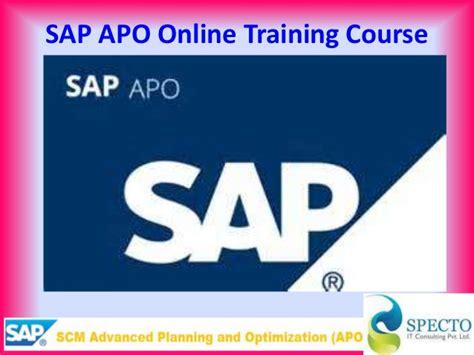 tutorial sap apo sap apo online training course in malaysia