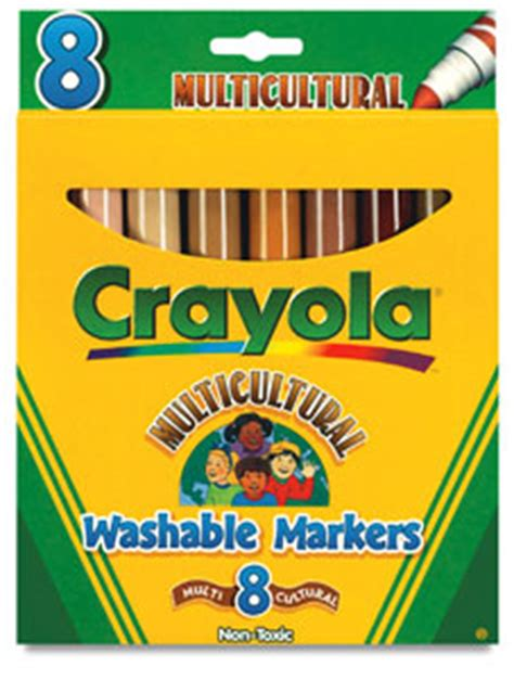 crayola skin color multicultural washable markers set of 8 skin tones