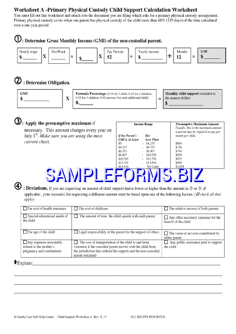 New Mexico Child Support Worksheet by 28 Nm Child Support Worksheet Oregon Child Support