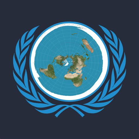 United Nations Nation 29 by Unofficial Un Logo United Nations Of Flat Earth United