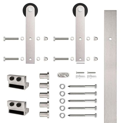 Stainless Glide Stainless Steel Flat Rail Stick Strap Glide Barn Door Hardware