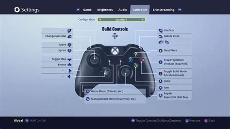 fortnite keyboard and mouse xbox fortnite xbox one how to change the new controller