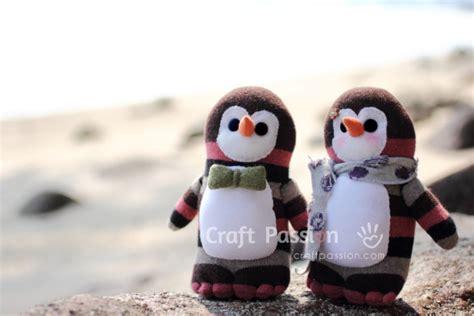 diy sock penguin sock craft patterns tutorials