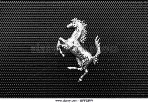 ferrari horse logo prancing horse ferrari logo stock photos prancing horse